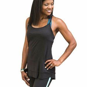 Gaiam Women's Sienna Tank Black Yoga Workout M